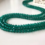 Хрусталик зеленый, 004, низка 50шт. (3х4мм)