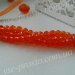 Хрусталик оранжевый, 014, низка 140шт. (3х4мм)