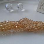 Хрусталик золотисто-коричневый, 016, низка 140шт. (3х4мм)