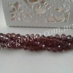Хрусталик светлый аметист, 022, низка 140шт. (3х4мм)