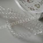 Хрусталик белый прозрачный, 025, низка 95шт. (4х6мм)