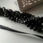 Хрусталик черный, 029, низка 95шт. (4х6мм)