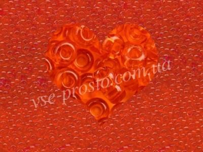 Бисер (5гр) 90030/106, оранжевый (натуральный прозрачный)