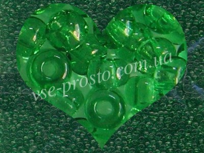 Бисер (5гр) 50100/115, зеленый (натуральный прозрачный)