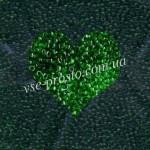 Бисер (5гр) 50120/116, зеленый (натуральный прозрачный)