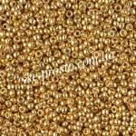 Бисер RR-4202, золотой Duracoat, 11/0 (10гр)