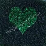 Бисер (5гр) 50060/121, зеленый (натуральный прозрачный)