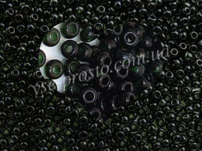 Бисер (5гр) 50290/122, зеленый (натуральный прозрачный)