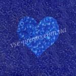 Бисер (10гр) 30030/127, синий (натуральный прозрачный)