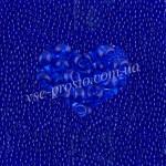 Бисер (5гр) 30080/128, синий (натуральный прозрачный)