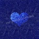 Бисер (10гр) 60300/134, синий (натуральный прозрачный)