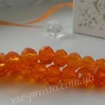 Хрусталик оранжевый, 014, низка 70шт. (6х8мм)