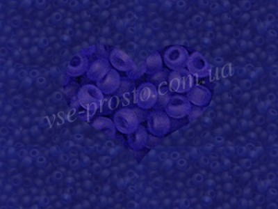 Бисер (5гр) 30080/153 синий (прозрачный матовый)