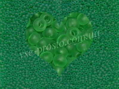 Бисер (5гр) 50100/157, зеленый (прозрачный матовый)