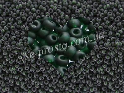 Бисер (5гр) 50150/159, зеленый (прозрачный матовый)