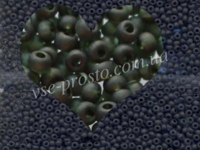 Бисер (5гр) 50290/161, темно-зеленый (прозрачный матовый)