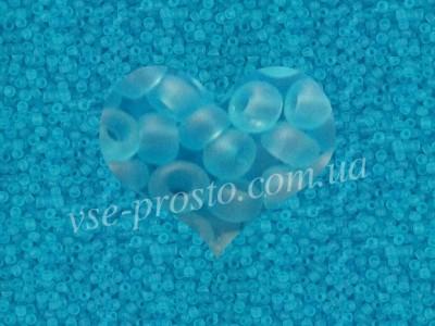 Бисер (5гр) 60010/165, голубой (прозрачный матовый)