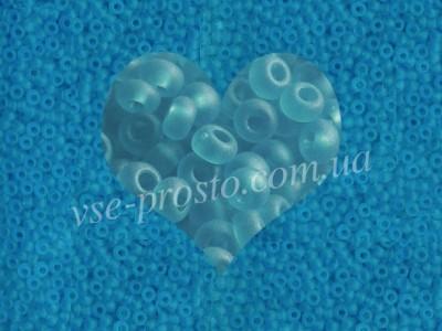 Бисер (5гр) 60150/168, голубой (прозрачный матовый)