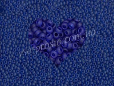 Бисер (5гр) 60300/169, синий (прозрачный матовый)