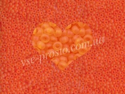Бисер (5гр) 90000/172, оранжевый (прозрачный матовый)