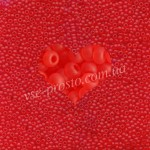Бисер (10гр) 90050/174, красный (прозрачный матовый)