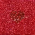 Бисер (10гр) 90070/175, красный (прозрачный матовый)