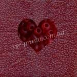 Бисер (10гр) 90090/176, красный (прозрачный матовый)