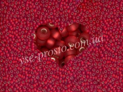 Бисер (5гр) 97070/178, красный (блестящий матовый)