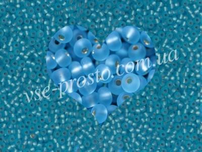 Бисер (5гр) 67010/196, голубой (блестящий матовый)