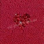 Бисер (10гр) 93190/203, красный  (натуральный керамика)