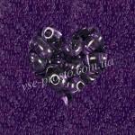 Twin (10гр) B2002/2080, фиолетовый (кристаллический прозрачный)