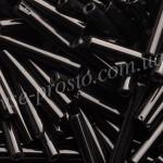 Стеклярус 23980 черный, 20мм