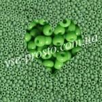 Бисер (10гр) 53230/215, салатовый (натуральный керамика)
