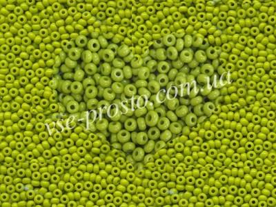 Бисер (5гр) 53430/221, оливковый (натуральный керамика)