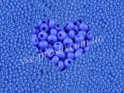 Бисер (5гр) 33040/230, синий (натуральный керамика)