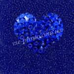 Бисер (10гр) 30050/8290, синий (натуральный прозрачный)