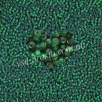 Бисер (5гр) 57060/254, зеленый (блестящий матовый)
