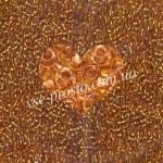 Бисер (10гр) 19020/255, золотисто-желтый (прозрачный с медной серединкой)