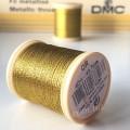 НИТЬ металлизированная DMC, золото, катушка 40м