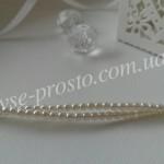 Жемчуг белый 70402, низка (150 шт.), 2мм, Чехия