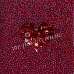 Бисер (5гр) 97090/303, красный (блестящий)