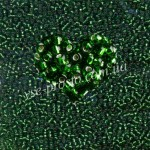 Бисер (5гр) 57120/317, зеленый (блестящий)