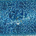 Бисер (10гр) 67150/326, голубой (блестящий)