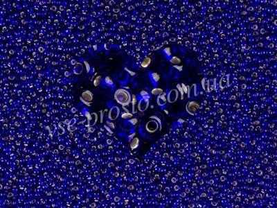 Бисер (5гр) 37100/332, синий (блестящий)