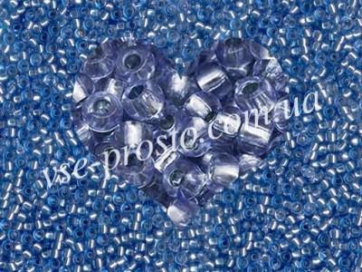 Бисер (5гр) 78131/341, синий (кристаллический блестящий)