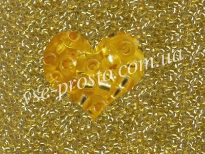 Бисер (5гр) 08286/346, золотисто-желтый (блестящий с покрытием)