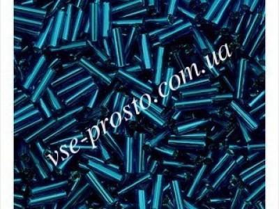 """Стеклярус 67100/929 синий, 3"""""""