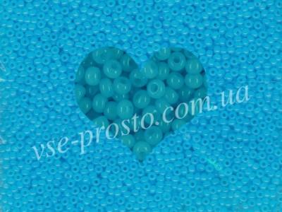Бисер (5гр) 02134/407, голубой (алебастровый)