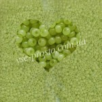 Бисер (10гр) 02153/410, салатовый (алебастровый)