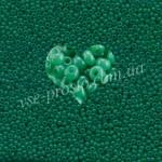 Бисер (10гр) 52240/428, бирюзово-зеленый (натуральный алебастровый)